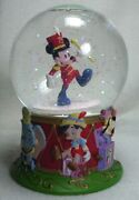 Disney Store Mickey Mouse 75th Anniversary Edition Snow Water Globe Vintage 1993