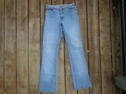 Parasuco Women's Size 29 Blue Jeans Low Rise Distressed Stretch Boot Cut,awesome