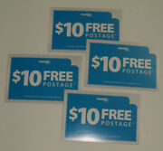 New Original / Authentic 4 Of Stamps.com 10.00 Free Postage Postcards / Coupons