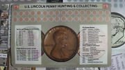 U.s. Lincoln Penny Hunting And Collecting Mat Rubber And Cloth 11 X 17