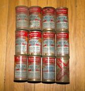Lot Of 11 Vintage Budweiser Bud Flat Top Beer Cans Ft - 12oz Busch + Lucky Can