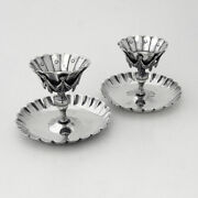Braserillo Cigar Lamps Pair Spanish Colonial Style Sanborns Sterling Silver