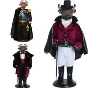 Hand-painted Collectible Doll Bull Porcelain Toy Interior Toys
