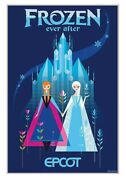 Epcot Frozen Ever After Serigraph Poster Numbered Le 100 Disney Parks Limited