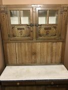 Antique Original Oak Andldquohoosierandrdquo Cabinet