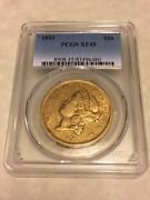 1853 Xf45 Pcgs Liberty Double Eagle Type 1 20 Gold Coin Nice Coin Good Appeal