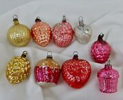 Antique Lot Small Christmas Glass Ornaments - 81655