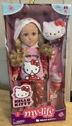 """My Life As Hello Kitty 18"""" Poseable Blonde Doll And Playset Nib"""