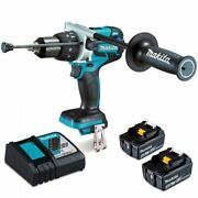 Makita 18v Brushless 5.0ah Hammer Drill Kit Comes With Compact Case Dhp481rte