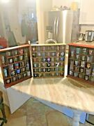 3 Shot Glass Display Cases Wall Rack Cabinet Shadow Box Includes 84 Glasses Read