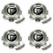 4x Fuel Off-road Wheels Machined Grey Wheel Center Hub Caps 6-3/8od Bolt-on For