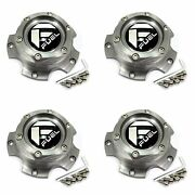4x Fuel Off-road Wheels Machined Grey Wheel Center Hub Caps 5-3/8od Bolt-on For