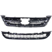 For 10 11 Crv Mexico/usa Built Model Front Lower And Upper Grill Grille Set Pair