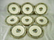 Lenox Autumn Set Of 8 Bread And Butter Plates Green And Black Label Exc Condition