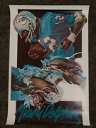 Vintage Official 1974 Nfl Miami Dolphins Poster George Stancraft 24 X 36 Vtg