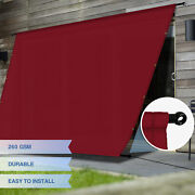 Eandk Waterproof Replacement Pergola Cover With Grommets Rods For Deck Patio Red