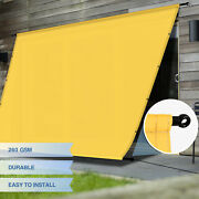 Eandk Waterproof Replacement Pergola Cover With Grommet Rods For Deck Patio Yellow
