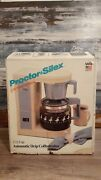 Proctor Silex A602 Blue Country Design Coffee Maker 2 To 12 Cups