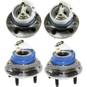 Wheel Hubs Set Of 4 Front And Rear Left-and-right For Chevy Lh Rh Venture 12429204
