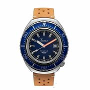 Squale 2002.ss.bl.bl.ptc 1000 Meter Swiss Automatic Dive Wristwatch Leather