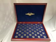 50 Coin Proof Clad 1999 S - 2008 S State Us Quarter Set In Wood Box Case