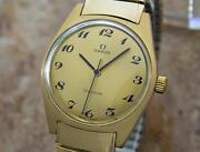 Mens Omega Geneve 35mm Gold-plated Hand-wind Dress Watch C.1970s Vintage Mx36