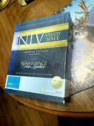Niv Study Bible By Zondervan Staff 2008,fine Leather, New Editionwide Edition