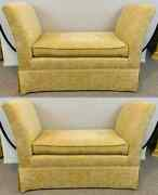 French Art Deco Style Yellow Gold Bench Or Window Seat After Dominique A Pair