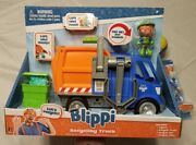 Blippi Recycling Garbage Truck W/ Sound And Figure + Extras Blippi Bendable And Ball