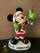 Disney Mickey Mouse Christmas Lights Statue Figure 13 Resin Lighted