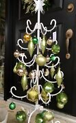 Vtg Atomic Whoville Christmas Tree Artificial Tabletop Cast Iron Metal