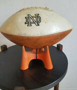 Vintage 1969 Notre Dame Football Team Signed Ball By Bob Olson And 65 More