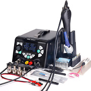 853d 5a-ii 3 In 1 Hot Air Rework Soldering Iron Station And Dc Power Supply New