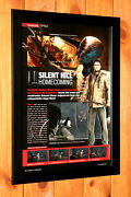 Silent Hill Homecoming Ps3 Xbox 360 Ad Vintage Mini Promo Poster Ad Page Framed