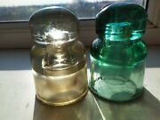 Vintage Insulator Light Green And White Color Glass Large Size Jsn