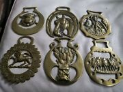 Collection Of 6 Vintage Horse Brasses