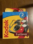 Kodak Funsaver Single Use Film Cameras 2 Pack Expired 2018 Color Pictures New