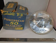Nos Gm 1950s Guide T-3 Powerbeam 50 Headlamp 6v Large High Low Beam Chevy Buick
