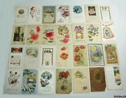 28 New Years Holidy Wishes Blessing Vintage Postcards