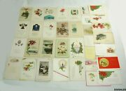 34 Antique Christmas Holiday 1900and039s Message Postcards