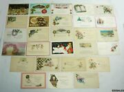 27 New Years Holiday Wishes Blessing Vintage Postcards