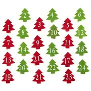 5x24 Pieces Of Christmas Tree Wooden Clothespins Christmas Photo Clip