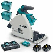 Makita 18vx2 Brushless Aws 165mm Plunge Cut Circular Saw Kit Dsp601pt2ju