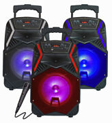 Bluetooth Speaker 8 1000w Portable Fm Subwoofer Heavy Bass Sound System Party