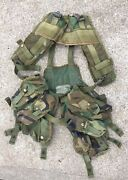 Us Military Woodland Enhanced Tactical Load Bearing Vest Web Gear And Pouches Hike