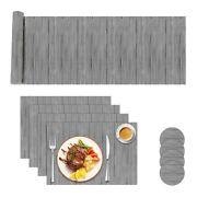 20xtable Runner Placemats And Coaster Sets Stain-resistant Woven Non-slip