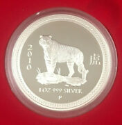 2010 Lunar Year Of The Tiger 1oz Silver Proof Coin - Perth Mint Series 1 I