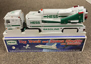 Hess 1999 Toy Truck And Space Shuttle With Satellite - New In Box
