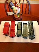 Lionel Steam Locomotive 242 With Tender, Cobus And Two Box Cars Untested