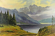 August From Randuumldt 1900 -1966 - Mountain Lake In The Alps